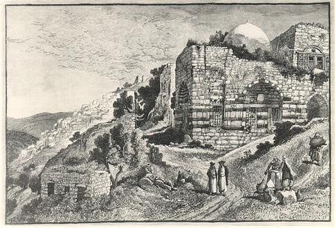 תוצאת תמונה עבור מצודת צפת במאה ה-19